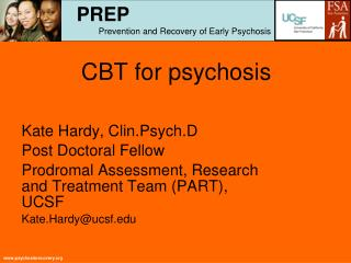 CBT for psychosis