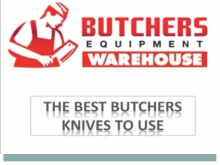 Types of Butcher Knife