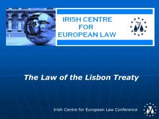 The Law of the Lisbon Treaty