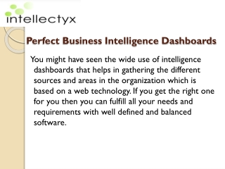 Find the perfect business intelligence dashboards