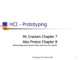 HCI - Prototyping