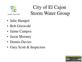 City of El Cajon  Storm Water Group