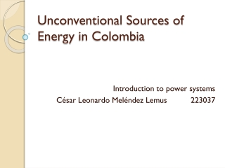 Unconventional source in colombia