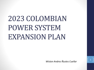 2023 COLOMBIAN POWER SYSTEM EXPANSION PLAN