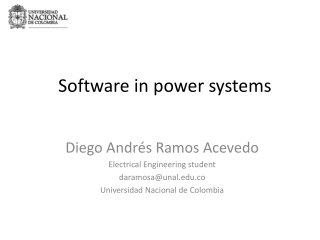 Software in power systems