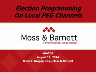 Election Programming On Local PEG Channels