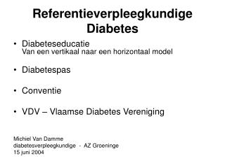Referentieverpleegkundige Diabetes