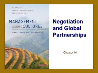 Negotiation and Global Partnerships