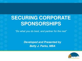 SECURING CORPORATE SPONSORSHIPS