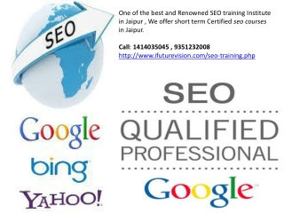 Certified seo courses in Jaipur