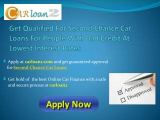 Second Chance Finance Car Loan