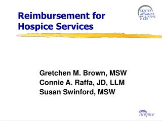 Reimbursement for  Hospice Services