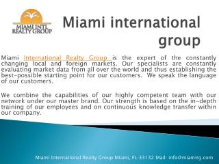 Miami international group