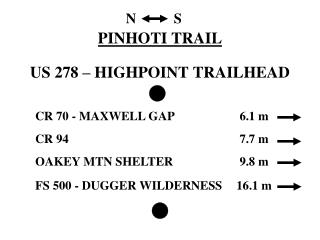 PINHOTI TRAIL  US 278   HIGHPOINT TRAILHEAD