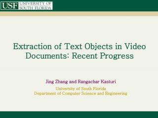 Extraction of Text Objects in Video Documents: Recent Progress