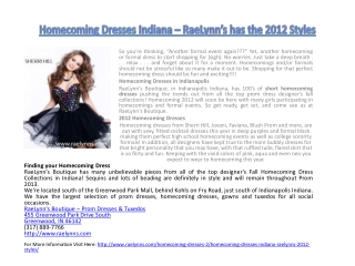 Homecoming Dresses Indiana – RaeLynn's has the 2012