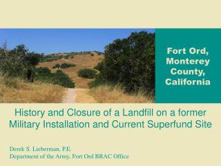 Fort Ord, Monterey County, California