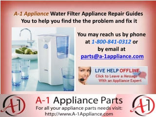 Water Filter Repairing Parts Online Buy From A-1 Appliance