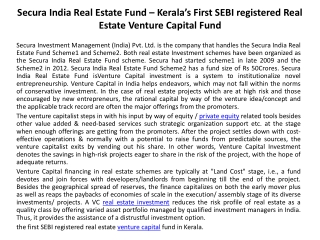 Secura India Real Estate Fund