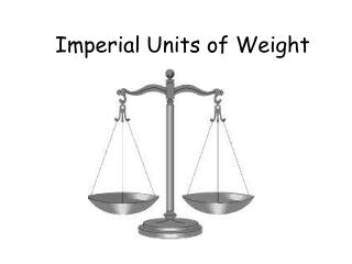 Imperial Units of Weight
