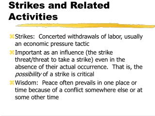 Strikes and Related Activities