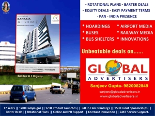 Outdoor Promotion for Airlines & Cruise - Global Advertisers