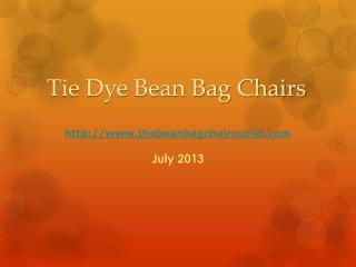 Tie Dye Bean Bag Chair