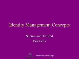 Identity Management Concepts
