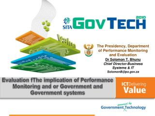 Evaluation fThe implication of Performance Monitoring and or Government and Government systems