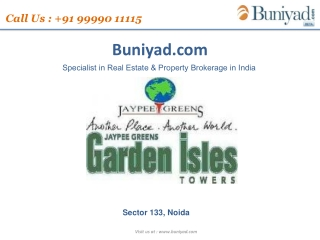 Jaypee Garden Isles Call Now @ 9999011115