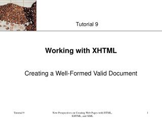 Working with XHTML