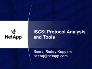 ISCSI Protocol Analysis and Tools