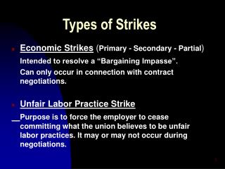 Types of Strikes