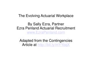 ezra penland actuarial jobs by sally ezra