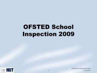 OFSTED School Inspection 2009