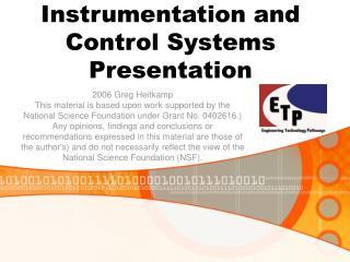 Instrumentation and Control Systems Presentation