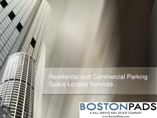 Revised - Residential and Commercial Parking Space Locator S