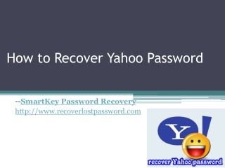 How to Recover Yahoo password