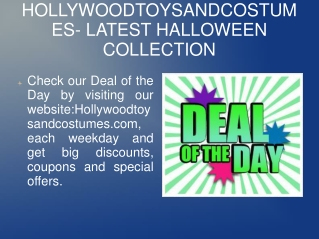 HOLLYWOODTOYSANDCOSTUMES LATEST HALLOWEEN COLLECTION