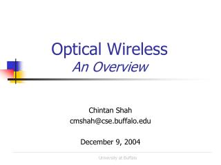 Optical Wireless  An Overview