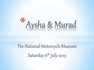 National Motorcycle Museum Presentation for EntranceTV Scree