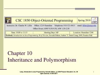 Chapter 10  Inheritance and Polymorphism