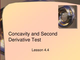 Concavity and Second Derivative Test