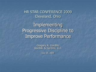 HR STAR CONFERENCE 2009 Cleveland, Ohio