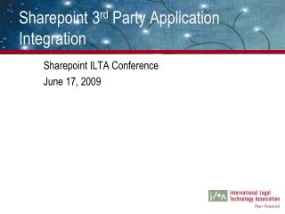 Sharepoint 3 rd  Party Application Integration