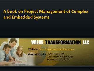 Book for project management of complex