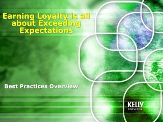 Best Practices Overview
