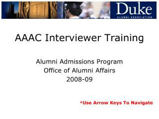 AAAC Interviewer Training