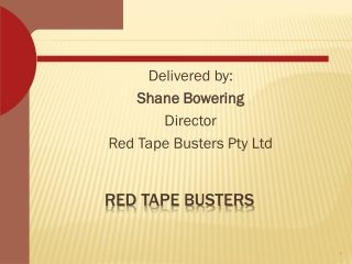 Red Tape Busters offers Tender Writing Services