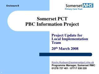 Somerset PCT PBC Information Project
